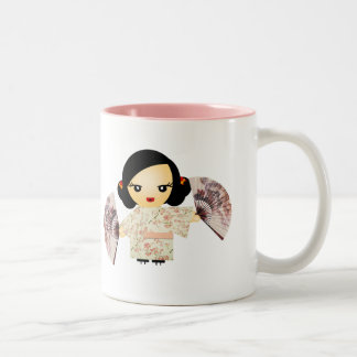 Geisha Rose Coffee Mugs