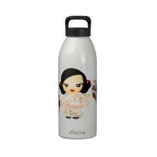 Geisha Rose Reusable Water Bottles