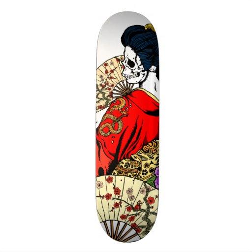 Geisha Skeleton Deck Skate Deck