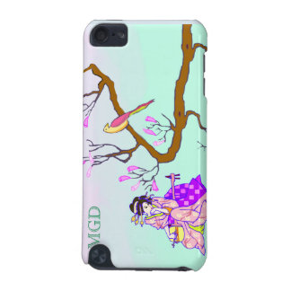 Geisha with cherry blossoms & monogram iPod touch 5G cases