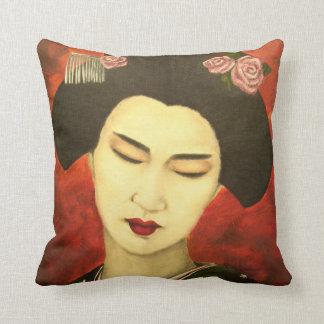 Geisha with Roses Cushion