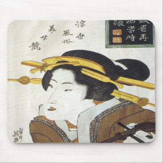 Geisha with Samisan, Eisen, 1826 Mousepad