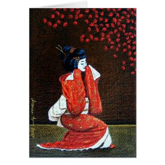 """""""Geisha's Dance"""" Card"""