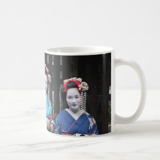 Geishas - Japanese Girls Basic White Mug
