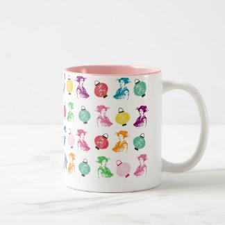 Geishas & Lanterns Two-Tone Mug