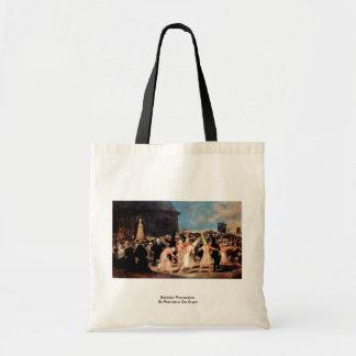 Geissler Procession By Francisco De Goya Tote Bags