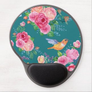 Gel Mousepad - Birds, Flowers and Butterflies Gel Mouse Mat