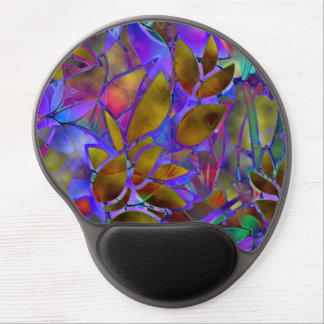 Gel Mousepad Floral Abstract Stained Glass