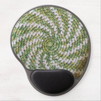 Gel Mousepad - Green and White Spiral