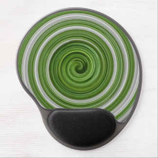 Gel mousepad green spiral pattern