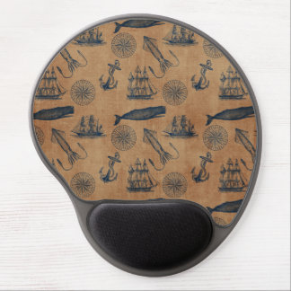 Gel Mousepad - Vintage Nautical Gel Mouse Mat