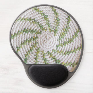 Gel Mousepad - White and Green Spiral