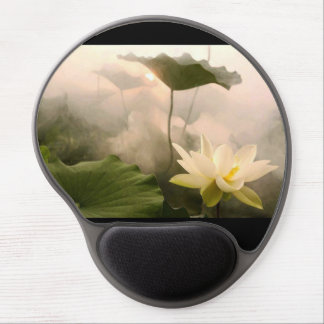 Gel Mousepad with Lotus Image Gel Mouse Mat