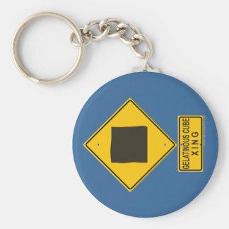 Gelatinous Cube XING Basic Round Button Key Ring