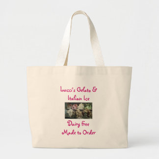 gelato5 Lucci s Gelato Italian IceDairy Free Canvas Bag