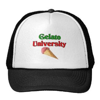 Gelato Italian Ice Cream University Hats