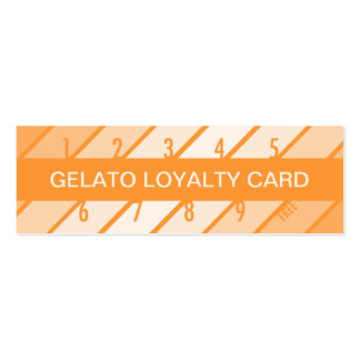 gelato loyalty card (retrograde) pack of skinny business cards