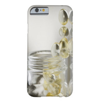 Gelcaps spilling out of glass bottle barely there iPhone 6 case