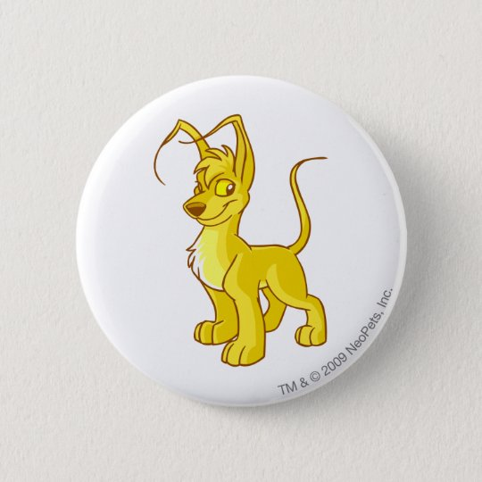Gelert Gold 6 Cm Round Badge