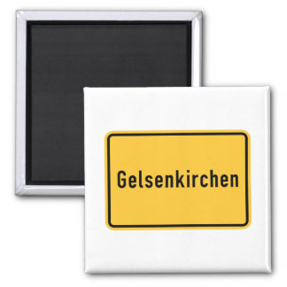 Gelsenkirchen, Germany Road Sign Magnet
