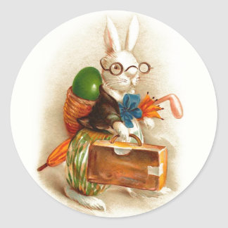 Gelukkig Paaschfeest Dutch Vintage Easter Classic Round Sticker