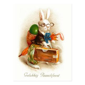 Gelukkig Paaschfeest Dutch Vintage Easter Postcard