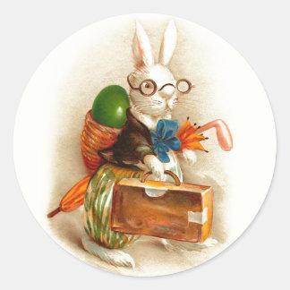 Gelukkig Paaschfeest Dutch Vintage Easter Round Sticker