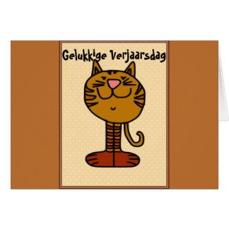 Gelukkige Verjaarsdag - Kat Card