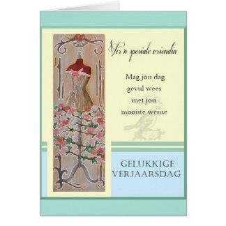 Gelukkige Verjaarsdag - Vir 'n spesiale vriendin Card