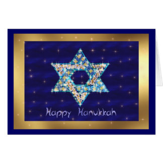 Gem decorated Star of David Greeting Card