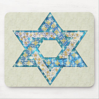 Gem decorated Star of David Mouse Pad