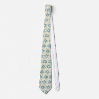 Gem decorated Star of David Tie