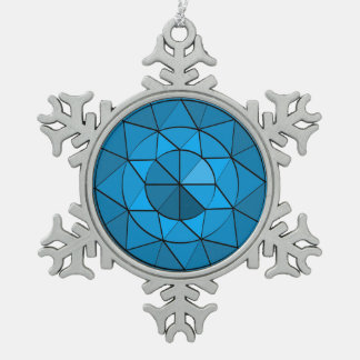 Gem Design Pewter Ornament