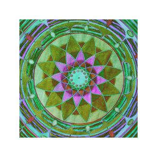 Gem flower mandala canvas print