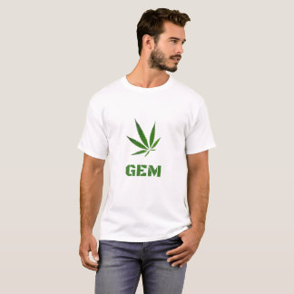 GEM Leaf Print Logo Design by #GrindAndVape T-Shirt