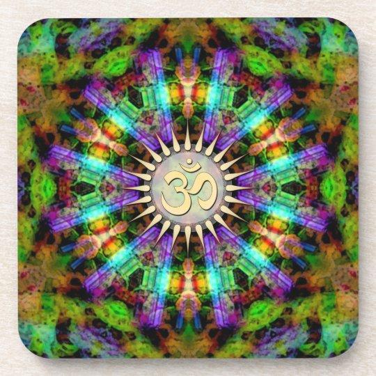 Gem Mandala Golden Aum Spiritual Art : Set