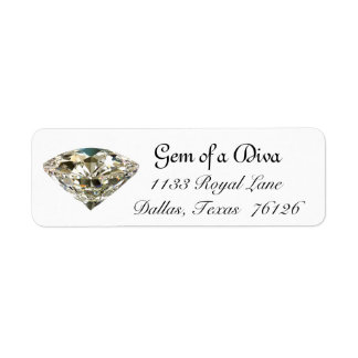 """GEM of a DIVA"" Address Labels"