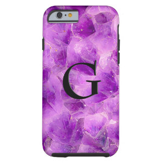 Gem Stone Pattern, Amethyst & Black Onyx Tough iPhone 6 Case