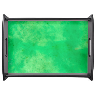 Gem Stone Pattern, Lime Green Jade Serving Tray