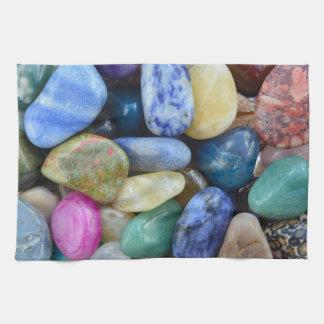 gem stones pattern texture rock nature tea towel