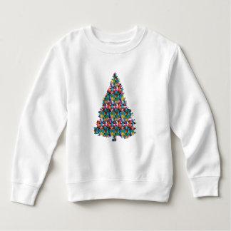GEM studded XMAS Tree :  Merry Christmas Sweatshirt