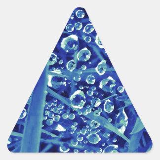 Gemdrops blue triangle sticker