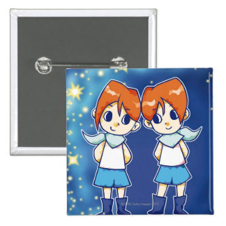 Gemini 15 Cm Square Badge