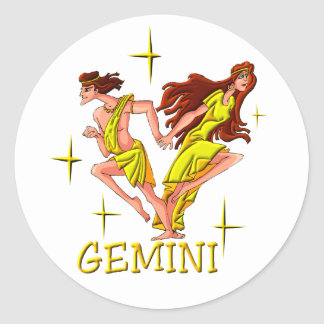 Gemini 3 (stars) classic round sticker