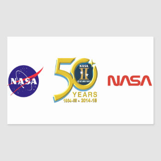 Gemini 50th Anniversary Logo Rectangular Sticker