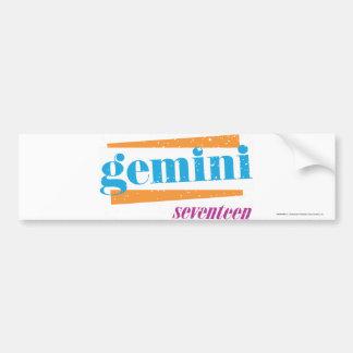 Gemini Aqua Bumper Sticker