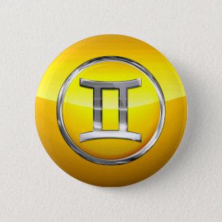 Gemini Astrological Sign 6 Cm Round Badge
