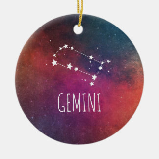 Gemini Astrology Christmas Ornament