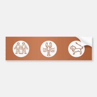 GEMINI Astrology Zodiac Symbol Bumper Sticker