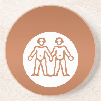 GEMINI Astrology Zodiac Symbol Sandstone Coaster